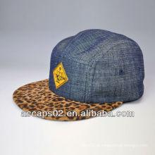 Chapéu de painel de impressão de leopardo 5