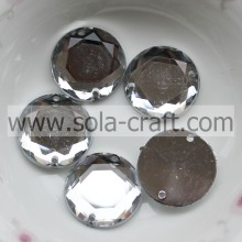 18mm Wholesale Acrylic Octagon Round Bead With Two Holes