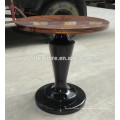 Mesa de centro de madera maciza de color café oscuro C1008
