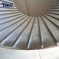 Trommel-Draht-Draht-Schirm des Edelstahl-304Stainless für Abwässer-Rasterung 0.25mm 0.5mm 1mm Schlitz