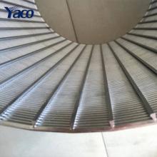 Haute qualité en forme de V soudé 304 acier inoxydable cunége tamis tuyau