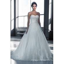 Top vente longue robe de mariée A-ligne de train
