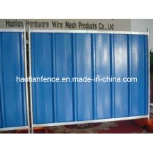 Bunte temporäre Stahlhorten für Baustellen verwendet