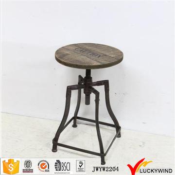 Retro benutzerdefinierte Holz Metall Runde Bar Hocker