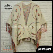 Glands tricoté manteau d'hiver des femmes floues