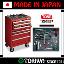 Electroless socket & torque wrench of stainless steel & titanium. Manufactured by Tone. Made in Japan (master hand tool box)