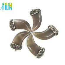 Großhandelsedelsteinschmucksachen Kristall pflastern flache Ochsenhorn-Achat-Anhänger