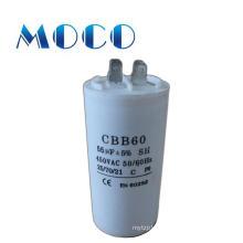 Hot sale white cbb60 capacitor 250vac 50/60hz 25/70/21
