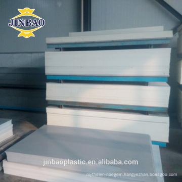 Jinbao CNC cutting 4x8ft 3mm 6mm plastic gray white pvc rigid sheet