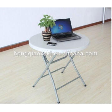 Kleiner Plastikfaltender runder Tisch, beweglicher Computer-Schreibtisch-Klapptisch, preiswerter weißer runder Speisetisch, Balkon-Klapptisch