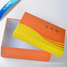 Caja de zapatos de papel de moda de la fuente