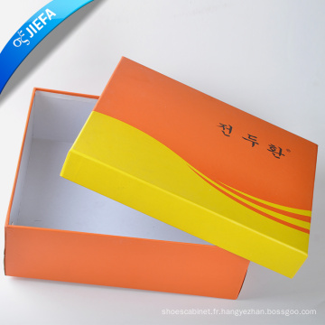 Fournir la boîte à chaussures de papier de mode