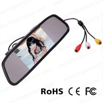 4.3 pulgadas de copia de seguridad del monitor del espejo retrovisor para el coche