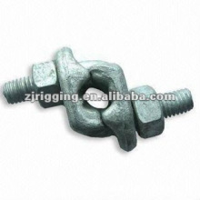 Clip de cuerda de alambre forjado con clip de agarre forjado