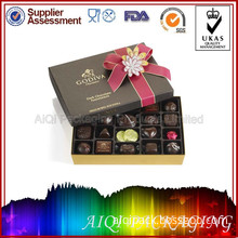 Custom Fancy Luxury Empty Chocolate Packaging Boxes Supplies (AQP047)
