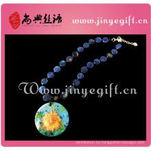 Collar colgante hecho a mano antiguo de la joyería de la joyería natural