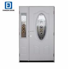 Fangda usado porta dupla de madeira exterior