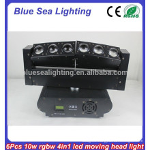 6 x 10W RGBW 4-in-1 led moving head kaleidoscope