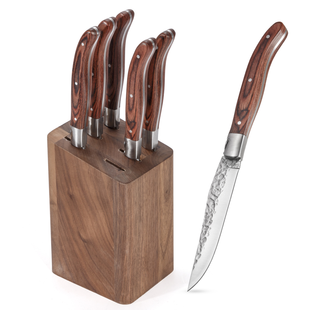 laguiole steak knife with wood handle