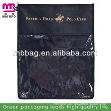 cor preta durável barato saco de jóias de linho por atacado