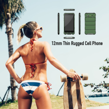 12mm Thin Rugged Cell Phone