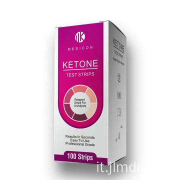 Kit di test chetonici disponibili per private label per analisi delle urine