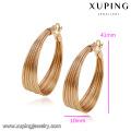 92786- Xuping Novos brincos de lustre de ouro na moda