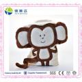 Super-Soft bebê cobertor com brinquedo de macaco de pelúcia