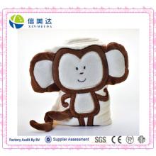 Super-Soft Baby Decke mit Plüsch Affe Spielzeug