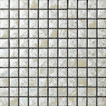 Blanco esmaltado mosaico cerámico transforma