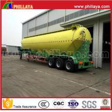 Tri-Axle 30-70cbm Silo Bulk Cement Bulker Wheat Flour Tanker Trailer