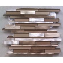 Carreau en mosaïque en aluminium et en verre (HGM385)