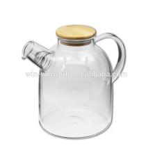 600 ml Pyrex Klarglas und Edelstahl Infuser Teekanne