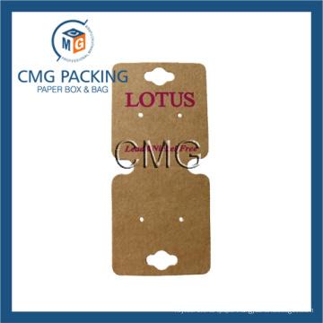 Hot Stamping Brown Kraft Necklace Display Card