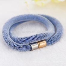 Großhandelsart und weise doppelte Stardust Armbänder für Frauen mit Kristall gefüllten magnetischen Haken-Verpackungs-Armband-Armbändern