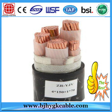0.6 / 1KV Copper Conductor 4 Core 95mm Cable de alimentación