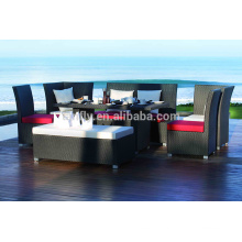 New outdoor PE wicker furniture rattan garden dining set