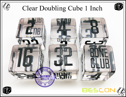 Clear Doubling Cube 1 Inch-3