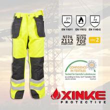 Baumwolle Polyester reflektierende feuerfeste Hose mit guter Tragbarkeit Farbreferenz