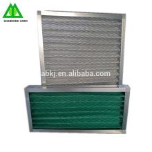 Filtro de aire industrial lavable en panel primario G4 con fibra sintética