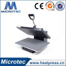 Prensa de calor abierto automático con cama de presión deslizable