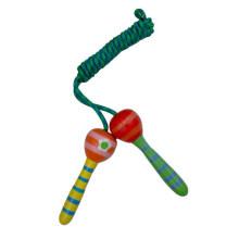 Keep Fit pequeno tamanho madeira salto corda brinquedo