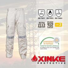 pantalones de calidad superior fr resistente al aceite e impermeable con en11611 para el trabajador