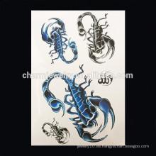 OEM Venta al por mayor Scorpion tatuaje hombre temporal tatuaje tatuaje hombro tatuaje temporal W-1019