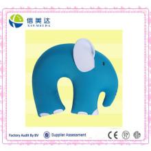 Blauer Elefant geformt U Form Kissen