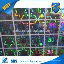 ZOLO Custom Self adhesive Embalagem etiquetas decorativas de alimentos / holograma etiqueta arco-íris