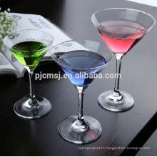 Verre à vin en cristal de vente chaude pure 2015 de luxe pour le cocktail