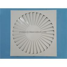 HAVC Systems Ventilation Láminas fijas Iron Sheet Square Swirl Diffuser