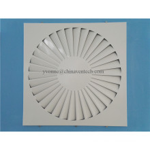 HAVC Systems Ventilation Fixed Blades Iron Sheet Square Swirl Diffuser