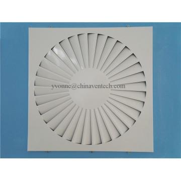 Difusor fixo do redemoinho do quadrado da folha do ferro das lâminas da ventilação dos sistemas de HAVC